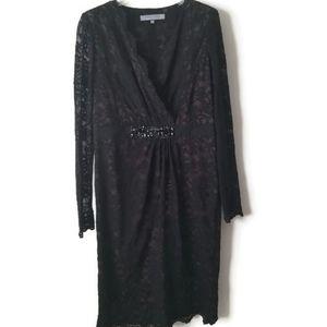 Anne Klein dress lace evening black sz 12